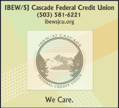 IBEW/SJ Credit Union Cares (503) 581-6221 - ibewsjcu.org