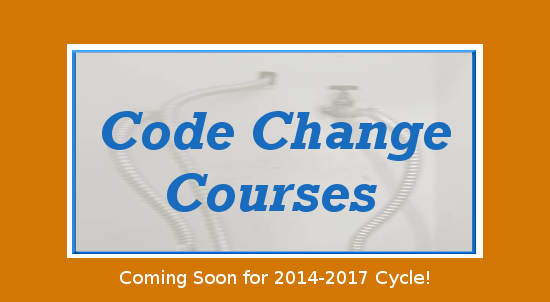 Oregon Plumbing Continuing Education Code Change Courses Coming Soon!